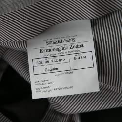 Ermenegildo Zegna Grey Wool Regular Fit Cool Effect Trousers M