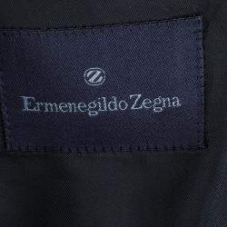 Ermenegildo Zegna Men's Grey Striped Suit M
