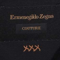 Ermenegildo Zegna Couture Black Wool Regular Fit Blazer XXL