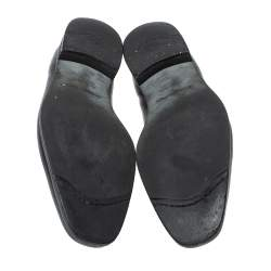 Ermenegildo Zegna Black Leather Penny Loafers Size 44