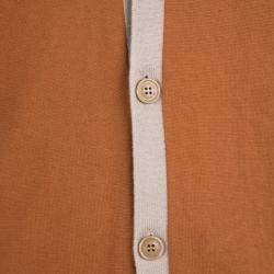 Etro Colorblock Faux Suede Panel Detail Button Front Cardigan 2XL