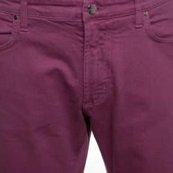 Etro Pink Washed Effect Denim Jeans XXL