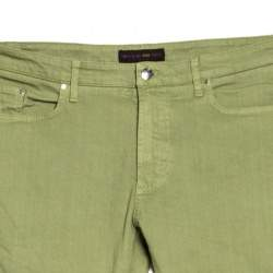 Etro Green Washed Effect Denim Straight Fit Jeans XXL