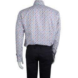 Etro White Paisley Motif Long Sleeve Button Front Cotton Shirt XL