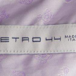 Etro Purple Paisley Cotton Jacquard Long Sleeve Button Front Shirt XL