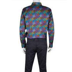 Etro Multicolor Printed Cotton Long Sleeve Button Front Shirt L