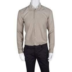 Etro Beige Ombre Jacquard Long Sleeve Button Down Shirt L