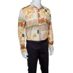 Etro Multicolor Pasta Print Long Sleeve Button Front Cotton Shirt XL
