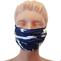 Non-Medical Handmade Navy Blue Camouflage Cotton Face Mask - Pack of 5 (Available for UAE Customers Only)