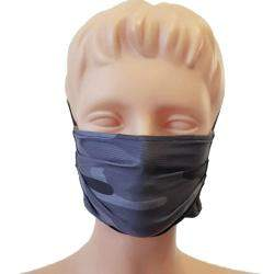 Non-Medical Handmade Grey Camouflage Cotton Face Mask - Pack Of 5 (Available for UAE Customers Only)