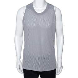 Fear of God Fifth Collection Grey Perforated Knit Sleeveless T Shirt S