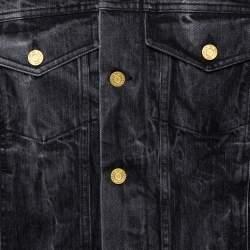 Fear Of God Black Acid Washed Denim Trucker Jacket M