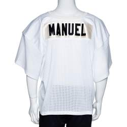 Fear of God Fifth Collection White Manuel Mesh Football Jersey XL