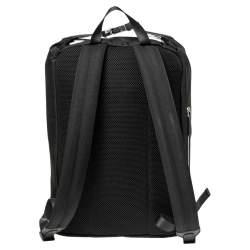 Fendi Black/Tobacco Zucca Leather Trim and Nylon Zaino Santander Backpack