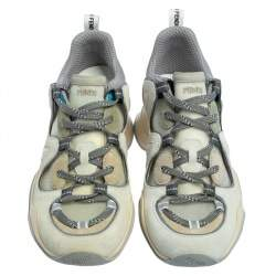 حذاء رياضي فندي سويدي رصاصي وشبكة بعنق منخفض مقاس 41