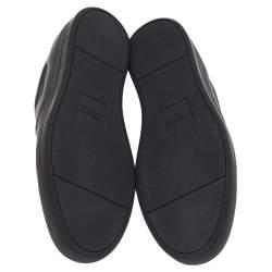 Fendi Black Leather Monster Bug Slip On Sneakers Size 43