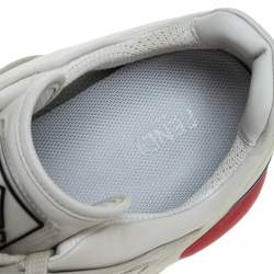 Fendi White Leather And Rubber Fendi-Fila Mania Logo Low Top Sneakers Size 45