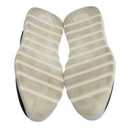 Fendi Black/Brown Zucca Print Knit Slip On Sneakers Size 43