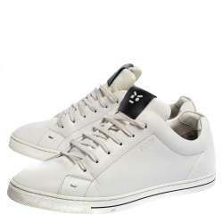 Fendi White Leather Low Top Sneakers Size 41