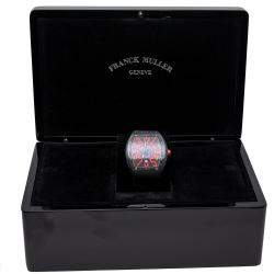 Franck Muller Black Vanguard Stainless Steel Automatic Men's Watch 44 MM