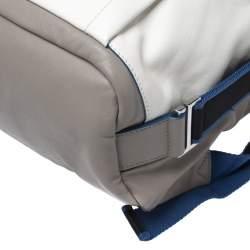 Furla Grey/Blue Leather Icaro Backpack
