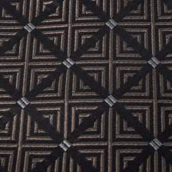 Gianfranco Ferre Vintage Brown Jacquard Silk Tie