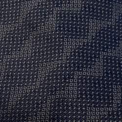 Gianfranco Ferre Navy Blue Silk Jacquard Traditional Tie