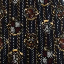 Gianfranco Ferre Vintage Navy Blue Printed Silk Tie