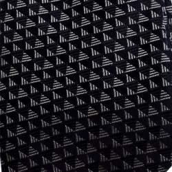 Giorgio Armani Navy Blue Geometric Pattern Silk Jacquard Tie