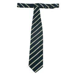 Giorgio Armani Black and Beige Striped Silk Tie