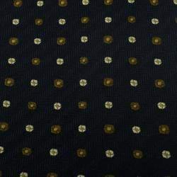 Giorgio Armani Black Polka Dot Silk Tie