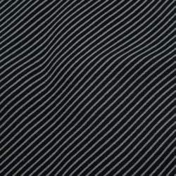 Giorgio Armani Beige and Black Striped Silk Tie