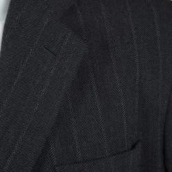 Giorgio Armani Grey Wool Herringbone Pattern Suit 3XL