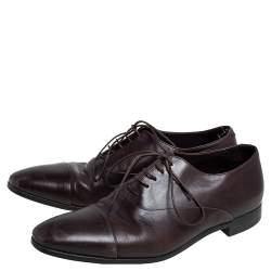 Giorgio Armani Brown Leather Oxfords Size 40.5