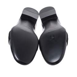 Giuseppe Zanotti Black Patent Leather Cummerbund Slip On Loafers Size 44
