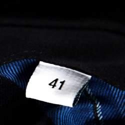 قميص جيفنشي قطن أزرق كاروهات بأزرار أمامية مقاس كبير - لارج