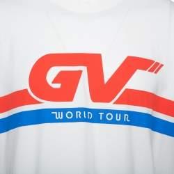Givenchy White World Tour Printed Cotton Crewneck T-Shirt S