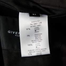 Givenchy Black Cotton Contrast Trim Detail Button Front Jacket XL