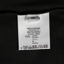 Givenchy Black Logo Printed Cotton Crewneck T-Shirt XL