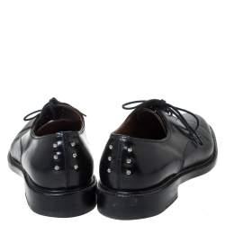 Givenchy Black Leather Nino Studded Lace Up Derby Size 41