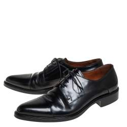 Givenchy Black Leather Lace Up Oxford Size 45