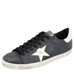 Golden Goose Black Superstar Classic Sneakers 40