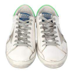 Golden Goose White Superstar Classic Sneakers Size 42