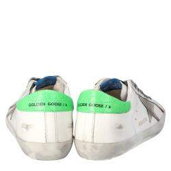 Golden Goose White Superstar Classic Sneakers Size EU 43