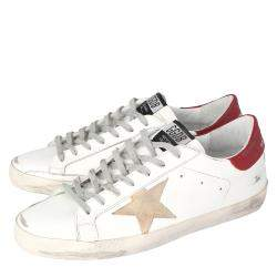 Golden Goose White Superstar Classic Sneakers Size EU 44