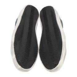 Golden Goose Black Distressed-effect Superstar Sneakers Size EU 44