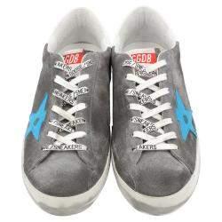 Golden Goose Grey Suede Superstar Sneakers Size EU 43