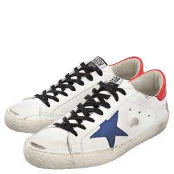 Golden Goose White/Red/Blue Superstar low-top sneakers Size EU 41