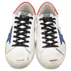 Golden Goose White/Red/Blue Superstar low-top sneakers Size EU 43