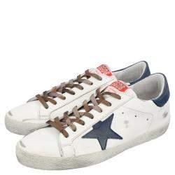 Golden Goose White/Blue Superstar low-top sneakers Size EU 42